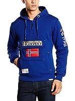 GEOGRAPHICAL NORWAY Sudadera con Capucha Gymclass (Azul Eléctrico)
