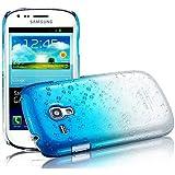 Semoss 1 X Transparent Goutte de Pluie Plastique Etui Coque Housse Hardcase pour Samsung Galaxy Trend GT-S7560 / Galaxy S Duos S7562 - Bleu
