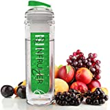 Fruit Infuser Water Bottle - Best For Tasty Fruit Infused Sports Juice By H20 INFRUIZER - *FREE* 50 Recipe Caribbean Cocktail Infusing E-Book - Secure Leek Free Sealed Bottles - Drink For Travel, Gym, Running - Like Camelbak Containers - Electrify Taste Buds Now !