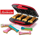 Sunbeam Gourmet Dog Treat Maker Non-Stick Electric Bone-Shape Recipe Pet Biscuit