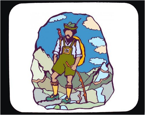 Decorated Mouse Pad with hiking,