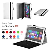 Elsse (TM) Premium Folio Case with Stand for Microsoft Surface Windows 8 RT (Does not fit Windows 8 Pro Version) - White (Surface RT, White)
