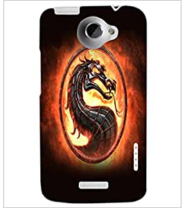 PrintDhaba Dragon D-5523 Back Case Cover for HTC ONE X (Multi-Coloured)