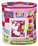 Mega Bloks Big Building Bag, 80-Piece (Pink)