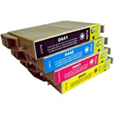4 CiberDirect Compatible Ink Cartridges for use with Epson Stylus C66 Photo Edition Printers.