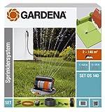 Gardena 8221-20 Sprinklersystem Komplett-Set mit Versenk-Viereckregner OS 140