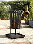 NARROW FIRE BASKET OUTDOOR HEATER AND...