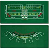 "Brybelly Blackjack and Craps Table Felt, 72"" x 36"""