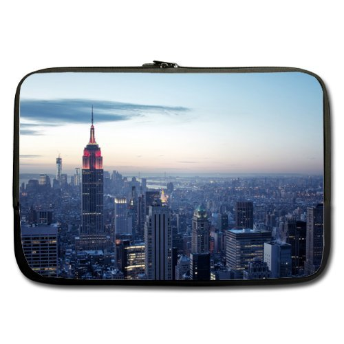 2014 New New York City 13 inch (Twin Sides) Neoprene Laptop Sleeve/Macbook Pro 13 Sleeve Case (Mac Book Pro Case New York compare prices)