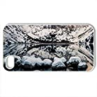 convict lake, california - Case Cover for iPhone 4 and 4s (Lakes Series, Watercolor style, White)