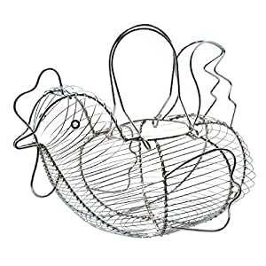 30cmx 25cm Chrome Plated Wire Large Chicken Basket