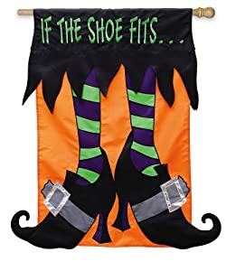 Garden Sized Applique Flag: If the Witch Shoes Fits