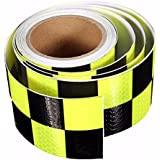 Alcoa Prime Hot Sale Yellow& Black PVC Reflective Tape Reflective Safety Warning Tape Good Viscous Waterproof...