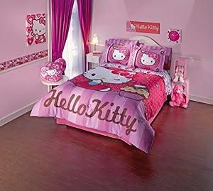 New Hello Kitty Comforter Sheet Set Full Size Home Kitchen