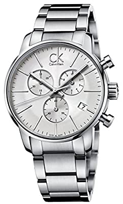 Calvin Klein K2G27146 City Chronograph Mens Watch - Silver Dial