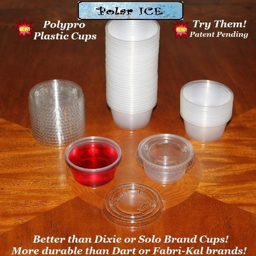 Polar Ice Disposable Plastic Glasses with Lids, 2-Ounce, Translucent, 500-Pack (Jello Shots Cups With Lids compare prices)