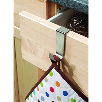 BlissHome Interdesign, Forma Over Cabinet Hook, Stainless Steel