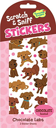 Peaceable Kingdom Scratch and Sniff Chocolate Labs Scented Sticker Pack