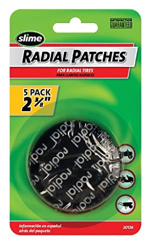 Slime 20126 Radial Tire Patchs 2-3/8″ 5 Pack