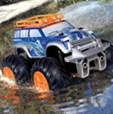 Educational Toys-RC Cars-Premium®Amphibious RC Vehicle Land & Water Rover 2015-Blue/Orange-Ground Vehicle For Limitless Adventures-Kids Electronics-Guaranteed!