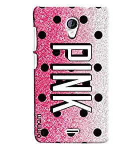 Omnam Pink Printed Designer Back Cover Case For Micromax unite 2 A106