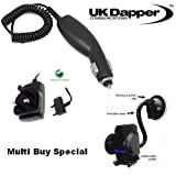 Genuine Sony Ericsson P990i UK 3 Pin Mains Charger CST-60 And In Car Charger + Mobile Car Holder Multi Buy