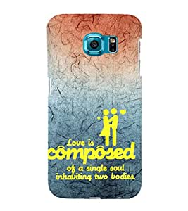 EPICCASE love is composed Mobile Back Case Cover For Samsung Galaxy S6 Edge Plus (Designer Case)
