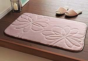 ustide pink bathtub mat 3d flower toilet rug solid color bathroom rug sets soft. Black Bedroom Furniture Sets. Home Design Ideas