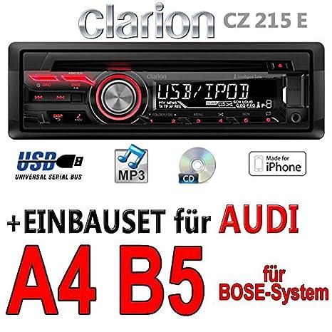 Audi a4 b5 bose-clarion cZ215E-autoradio mP3/uSB avec kit de montage