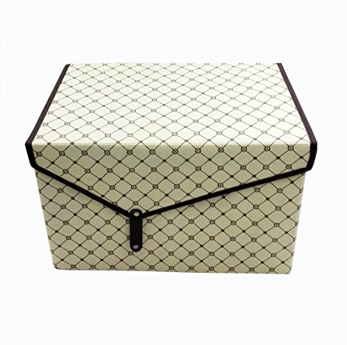Qingsheng Storage Box, Foldable Non-woven Fabric Flip Top Lidded, Large