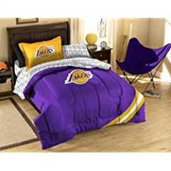 NBA Los Angeles Lakers Twin Bed in a Bag with Applique Comforter by Northwest
