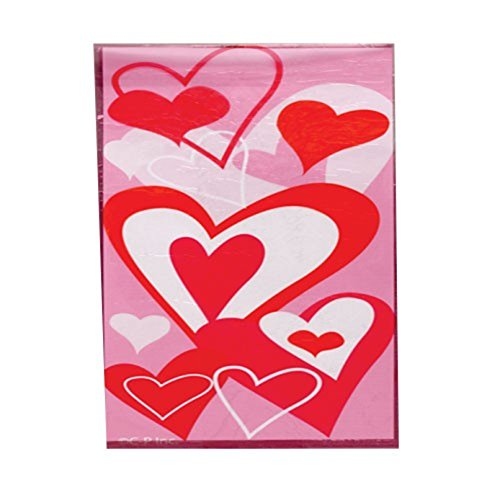 Lot Of 12 Red And Pink Heart Theme Cello Cellophane Party Bags