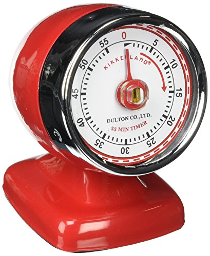 Vintage Kitchen Timer Red and White