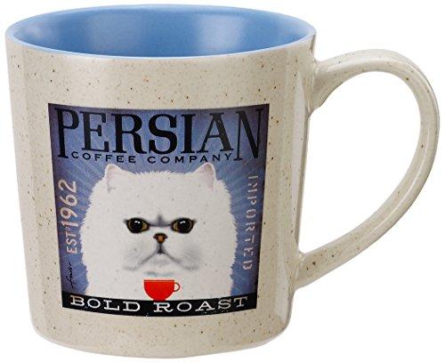 DEMDACO Persian Cat Mug, Multicolored persian art