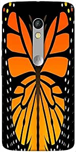 Snoogg Butterfly 2759 Designer Protective Back Case Cover For Motorola Moto X Play