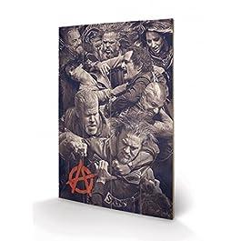 Hijos De La Anarquia - Fight Cuadro De Madera (60 x 40cm)