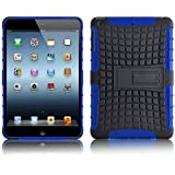 iPad Mini Case - ALLIGATOR Double Protection Rugged Back Cover for iPad Mini 3rd, 2nd and 1st Generation, Blue