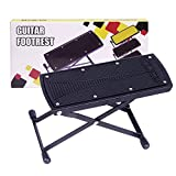 GLEAM Guitar Foot Rest, Stool, Footrest (Black)