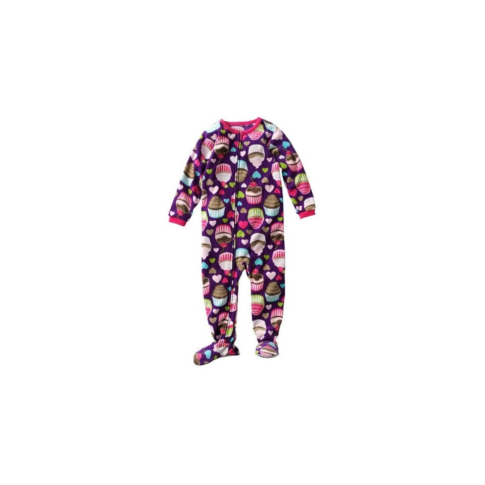 Carters Toddler Girls One Piece Polyester Micro Fleece Footed Blanket Sleeper Pajama Purple Cupcakes   3 Toddler (3t)
