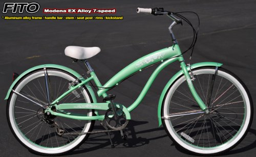 Anti-Rust aluminum Alloy Frame! Fito Modena EX Alloy 7-speed Women - Mint Green, 26