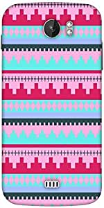 Snoogg Digit Aztec Pink Designer Protective Back Case Cover For Micromax A110
