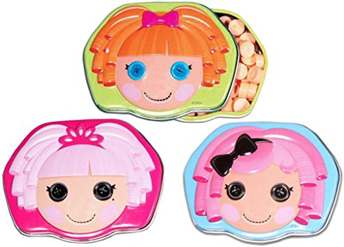 Boston America Lalaloopsy Sew Cute Buttons Shape Candy Set (3 Piece)