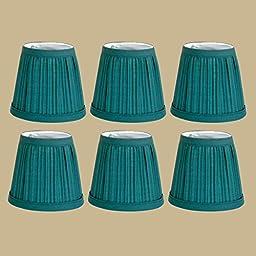 6 Fabric Lamp Shade Hunter Green 4 1/16\