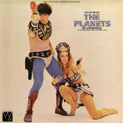 Original album cover of The Planets by Sir Adrian Boult; New Philharmonia Orchestra; Ambrosian Singers; Holst
