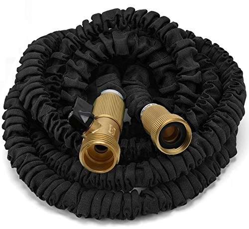 75ft Expanding Hose, Strongest Expandable Garden Hose on the Planet. Solid Brass Ends, Double Latex Core, Extra Strength Fabric, 3/4
