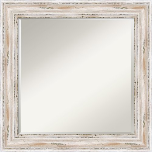 Alexandria Whitewash Mirror - Square Framed front-1082717