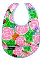 Mimi the Sardine Cotton Baby Bib, Rose Garden Design