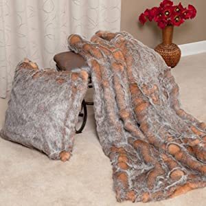 Best Home Fashion Crystal Fox Faux Fur Throw Blanket - NewArrivals at Sears.com