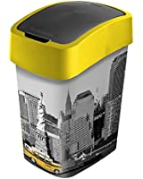 Curver 2045259 Flip Bin Poubelle Décoration New York Plastique Multicolore 25 L
