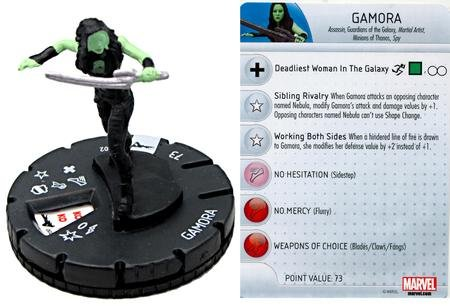 Marvel Heroclix Guardians of The Galaxy Movie Gamora #002 - 1
